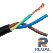black sheath 3 core cable